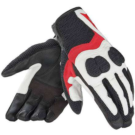 Air Mig Black-White-Red Gloves Dainese