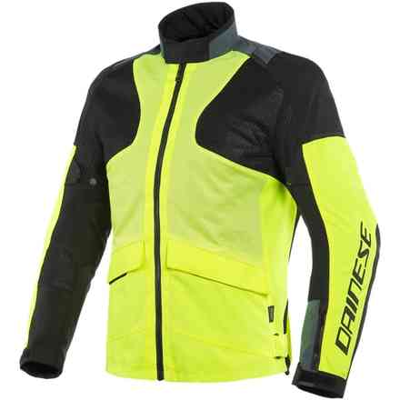 Air Tourer Tex jacket fluo yellow ebony black Dainese