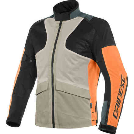 Air Tourer Tex jacket Frost gray flame orange black Dainese