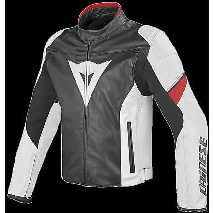 Airfast leather jacket traforated Black / White / Red Dainese