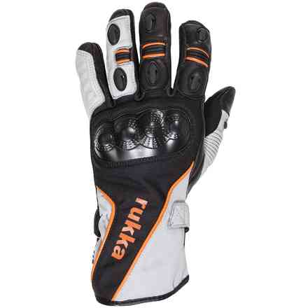 Airventur black white orange Gloves RUKKA