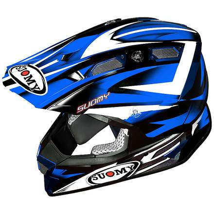 Alpha Bike Blue Helmet Suomy