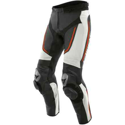 Alpha pants white black red fluo Dainese