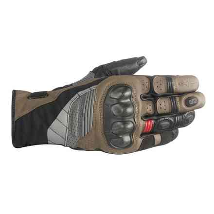 Alpinestars Belize Drystar Black-Brown-Red Gloves Alpinestars