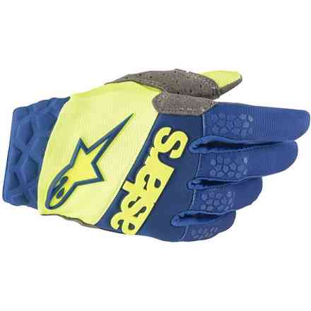 Alpinestars Racefend Gloves Yellow Fluo - Blue Alpinestars
