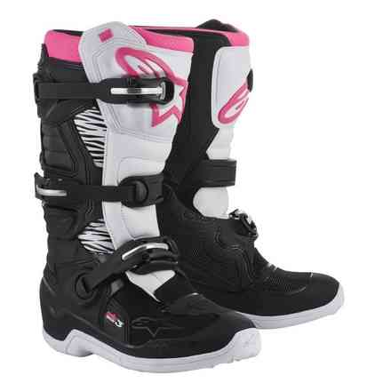 Alpinestars Stella Tech 3 Botte Noir Blanc Rose Alpinestars