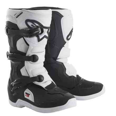 Alpinestars Tech 3s Black-White Youth Boots Alpinestars