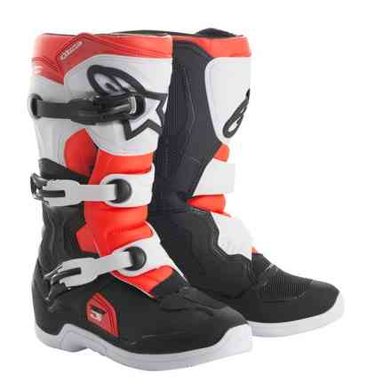 Alpinestars Tech 3s Youth Black-White-Red Fluo Boots Alpinestars