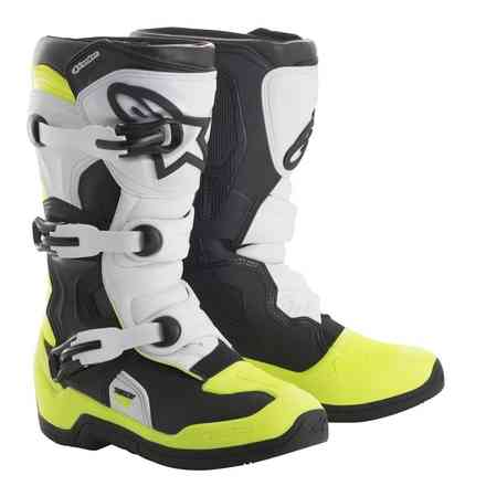 Alpinestars Tech 3S Youth Boots Black White Yellow Fluo Alpinestars