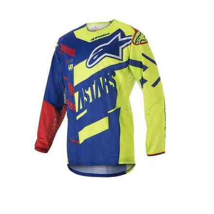 Alpinestars Techstar Screamer Bleu-Jaune Fluo-Rouge Alpinestars
