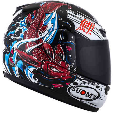 Apex Jap black red Helmet Suomy