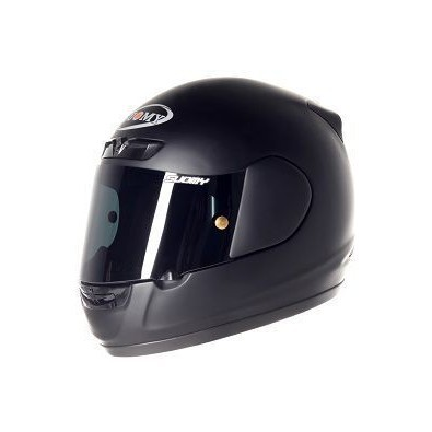 Apex Plain Matt Black Helmet Suomy