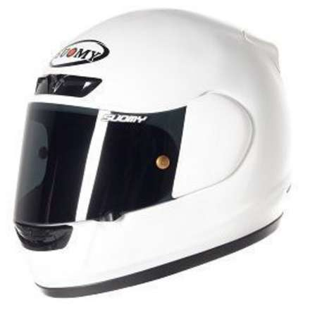 Apex Plain White Helmet Suomy