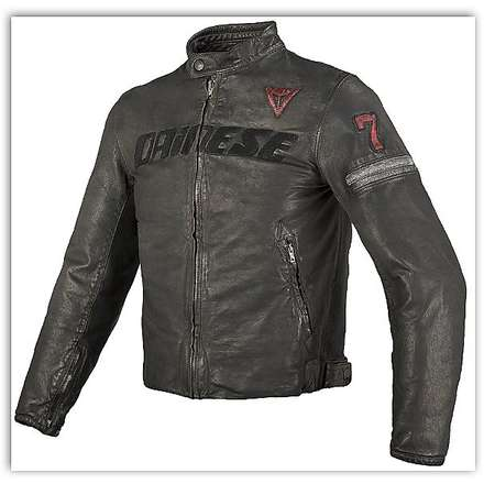 Archivio leather Jacket Black Seven Dainese
