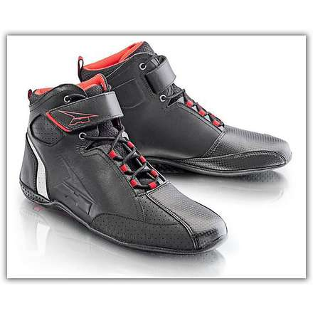 Asphalt Black-Red Shoe Axo