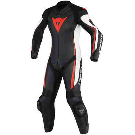 Assen 1 Pcs leather suit Perforated black white red fluo Dainese