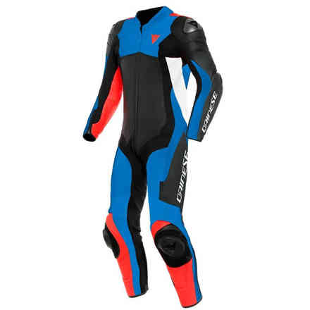 Assen 2 1 Pc. Perforated suit black light blue fluo red Dainese