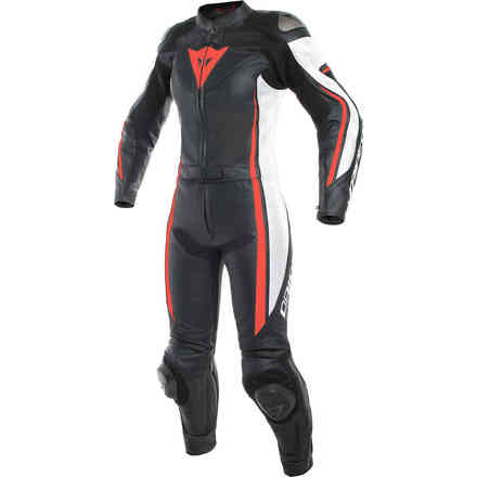 Assen 2 Pcs Lady Suit black white red fluo Dainese