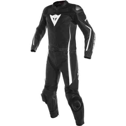 Assen 2pcs leather Suit black white Dainese
