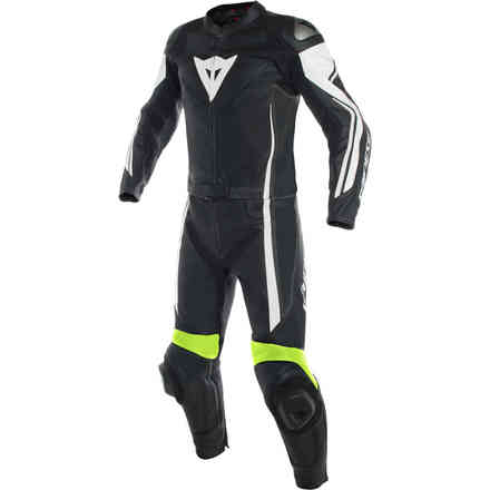Assen 2pcs Suit black white yellow fluo Dainese