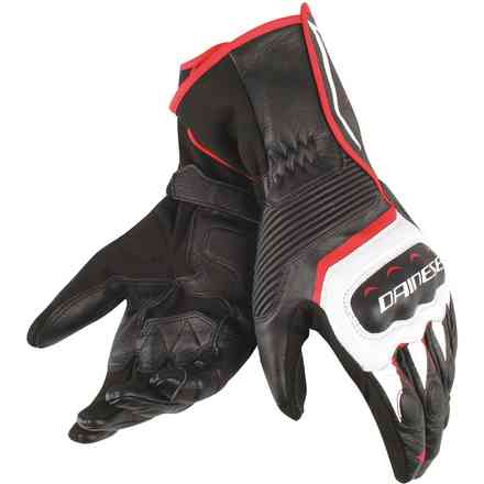 Assen gloves black white red Dainese