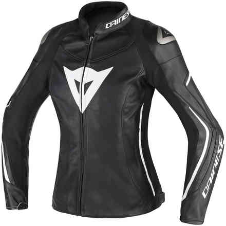 Assen Lady jacket black black white Dainese
