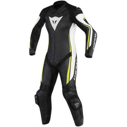 Assen Lady suit perforated Black White Yellow Dainese