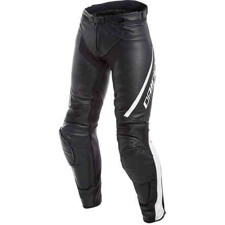 Assen Perforated lady pant black white Dainese
