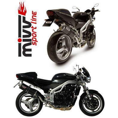 At.003.le Slip-on Carbonio Oval Pass. Alto Triumph Speed Triple 955i Mivv