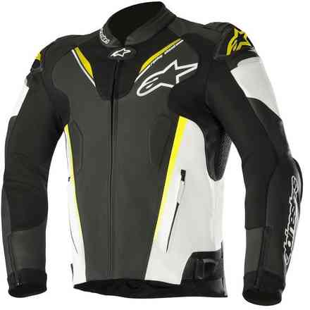 Atem V3 jacket black white yellow fluo Alpinestars