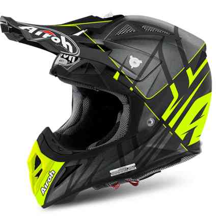 Aviator 2.2 Styling helmet black yellow matt Airoh
