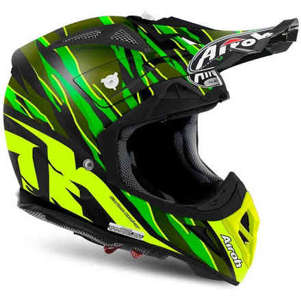 Aviator 2.2 Threat Green Matt Helmet Airoh