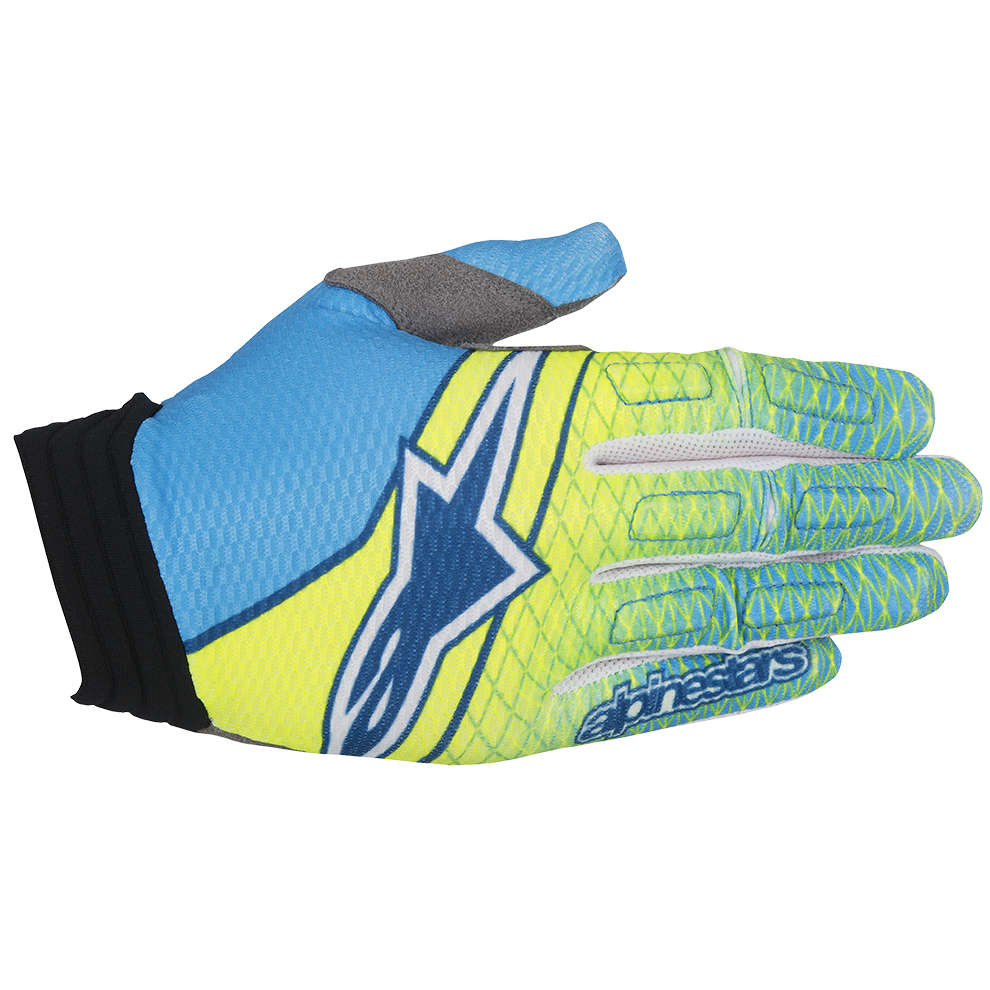 Aviator yellow-blue Gloves  Alpinestars