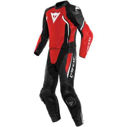 Avro D2 2 pcs Leather Suits Black White Red Dainese