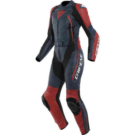 Avro D2 2 Pcs suit Lady black iris red Dainese