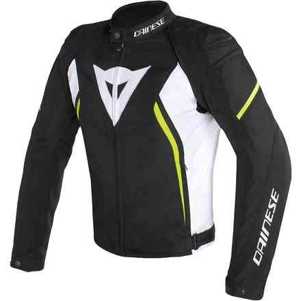 Avro D2 Tex jacket black white yellow fluo Dainese