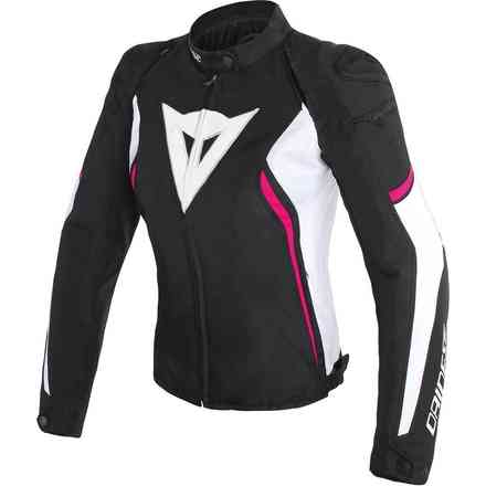 Avro D2 Tex Lady jacket black white fuxia Dainese