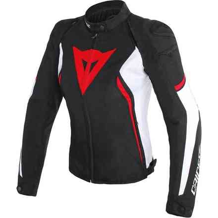 Avro D2 Tex Lady jacket black white red Dainese