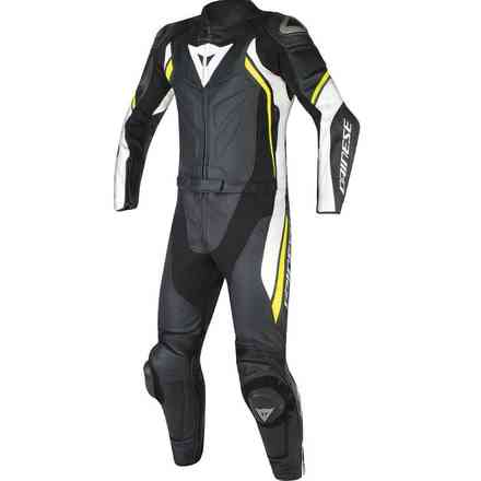 Avro Suit 2 Pcs D2 black white yellow fluo Dainese