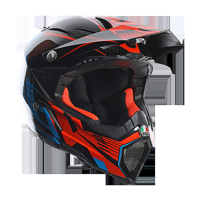 Ax-8 Carbon Carbotech orange-blue Helmet Agv