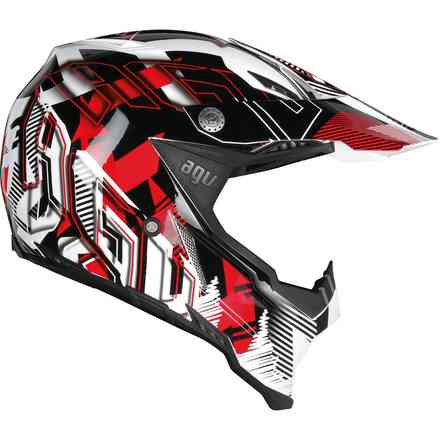 Ax-8 Evo Multi Nofoot helmet White red Agv