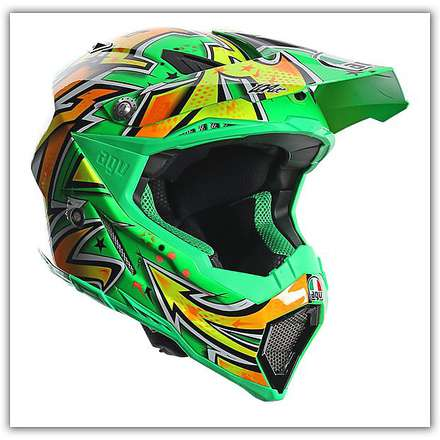 Ax-8 Evo Spray Green Helmet Agv