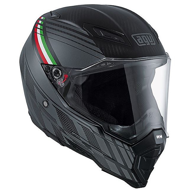 Ax-8 Naked Carbon Black Forest Helmet Agv