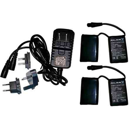 Battery and charger kit 7,4v 3a for gloves and socks Klan