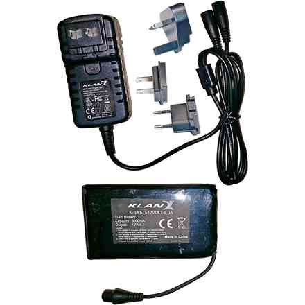 battery kit and battery charger 12v 6a Klan