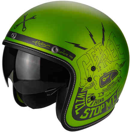Belfast Fender green Helmet Scorpion