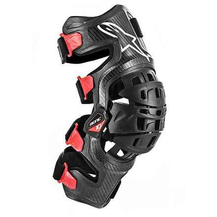 Bionic-10 Carbon Knee Brace Left Black Red Alpinestars