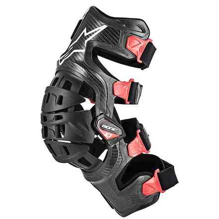 Bionic-10 Carbon Knee Brace Right Black Red Alpinestars