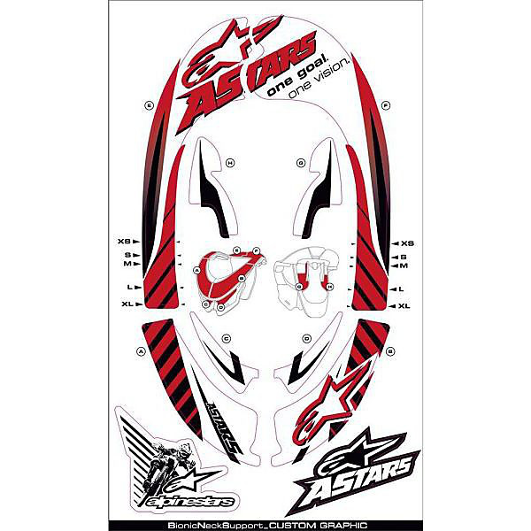 Bionic Neck Support Graphic Kit Alpinestars
