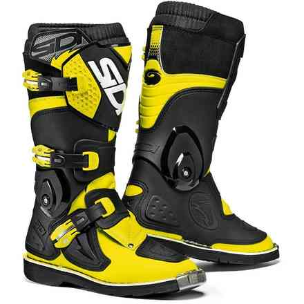 Black / Fluo Yellow Flame Boots Sidi